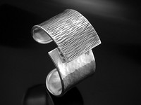 """Divisions"" Silver Cuff Bracelet"