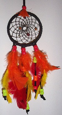 Blaze! Fire coloured dreamcatcher