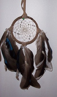 Natural Small Tan Dream Catcher,traditional style